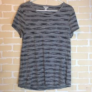 Lucky Lotus Striped Top open back casual Blouse